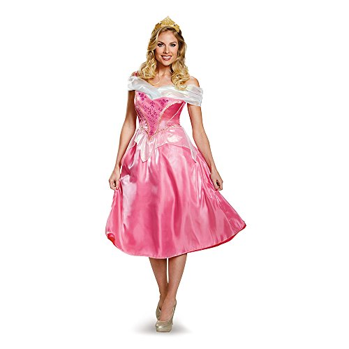 (Disney Disguise Women's Aurora Deluxe Adult Costume, Pink,)