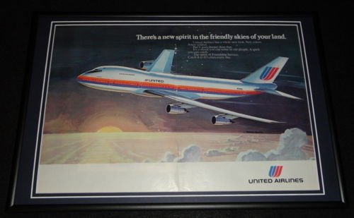 1974-united-airlines-framed-12x18-original-advertising-display