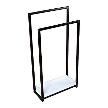 Amazoncom Kingston Brass Free Standing Towel Rack Stand In Oil