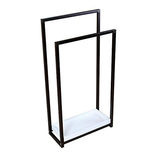 freestanding brass coat rack - 1