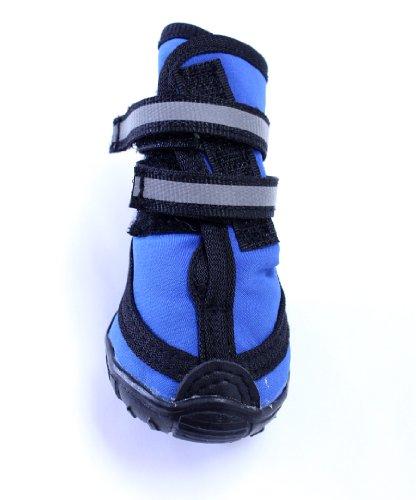Fashion Pet Performance Waterproof Dog Boots, Large, Blue