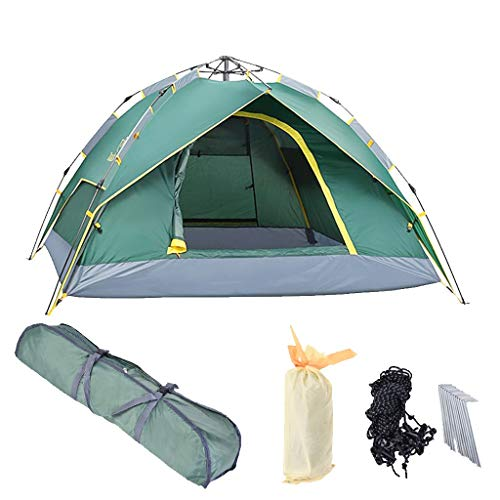 Chenway Pop-up Camping Tent for 2-3 Persons Hydraulic Automatic Tent Double Decking Beach Camping Hiking Tent Beach Tent Windproof [Ship from USA - Person Spring Tent