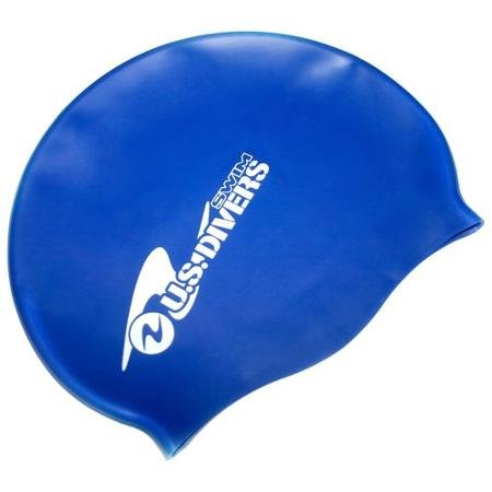 US Divers Premium High Quality Thermal Adult Swim Cap With Water-repellent coating - One Size Fits All (Blue)