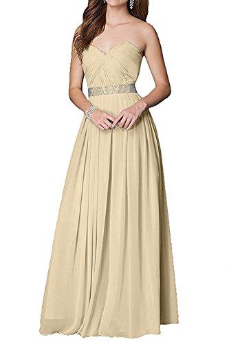 Linie La Ballkleider mia Abschlussballkleider Herrlich Promkleider Weiss Champagner Abendkleider Lang Braut Tanzenkleider Chiffon A qBxwHx4PZ