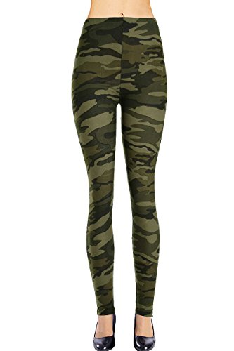 Military Army Camo (Printed Leggings (Army Camouflage), One Size Fits All: 0 (XS) - 12 (L))