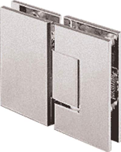 CRL Geneva 180 Series Brushed Nickel 180186; Glass-To-Glass Standard Hinge