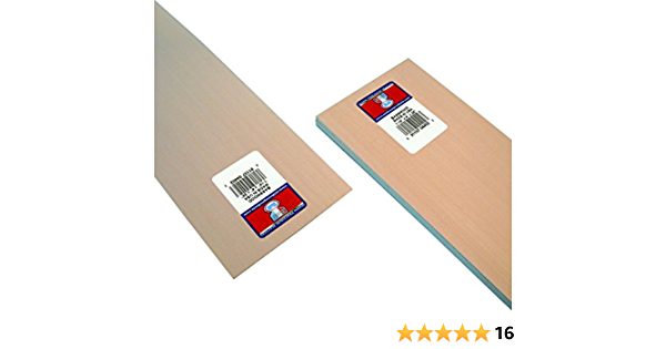 BWS3165 Bass Wood 1//16 x 6 x 24 5