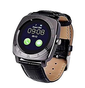 Furein Compatible con Android e iPhone Reloj Inteligente Smartwatch X3 Táctil Bluetooth Yiqi Yaodai Llamadas Música y Fotografías Esfera Cuadrada ...
