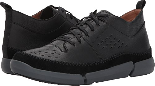 Clarks Hombres Trifri Hi Black Leather