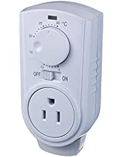Amaze Heater TC007 Plug in Thermostat for Portable Heaters and Air Conditioners