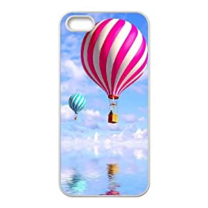 iPhone 4 4s Cell Phone Case White Vintage Hot Air Balloon F8224941