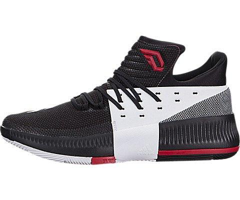 adidas Dame 3 On Tour Shoe - Men's Basketball 10.5 Core Black/Utility Black/White