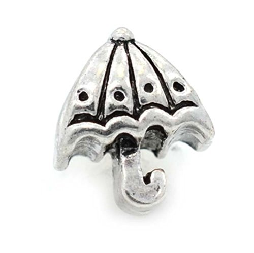 Pro Jewelry Umbrella Charm Bead Compatible with European Snake Chain Bracelets -