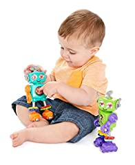 My First Robot is a super simple all in one toy to provide hours of entertainment. With no loose parts or assembly, its all in one design is fantastic for play time on the go wherever you go. This robot has a new moving part or clicking sound...