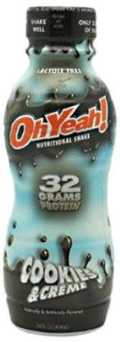ISS OhYeah RTD Cookies & Cream 14-Ounce Bottles (Pack of 12)
