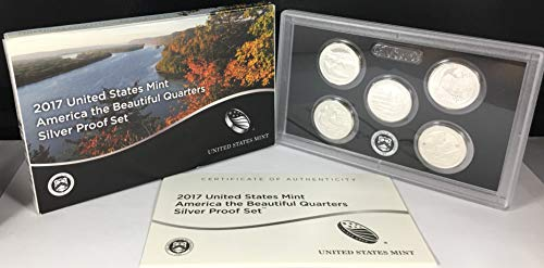 (2017 S United States Mint America the Beautiful Quarters Silver Proof Set US Mint)