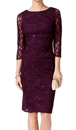 9e7d0bff7a39 Image Unavailable. Image not available for. Color: Jessica Howard Womens  Sequin Floral Lace Sheath Dress ...