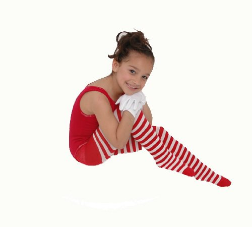 [Kid's White Striped Tights in 22 Color Combos and 4 sizes!] (Striped Leggings Costumes)