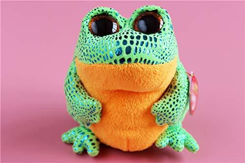 - WATOP Stuffed Animals - ty Beanie   ty Beanie boos Cute Big Eyes Frog Stuff Animal Plush Toy Doll Kids Birthday Gift 14cm-