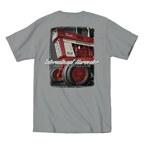 Air Waves IH American Muscle Turbo International Harvester Farm Tractor Country Mens Shirt from Air Waves