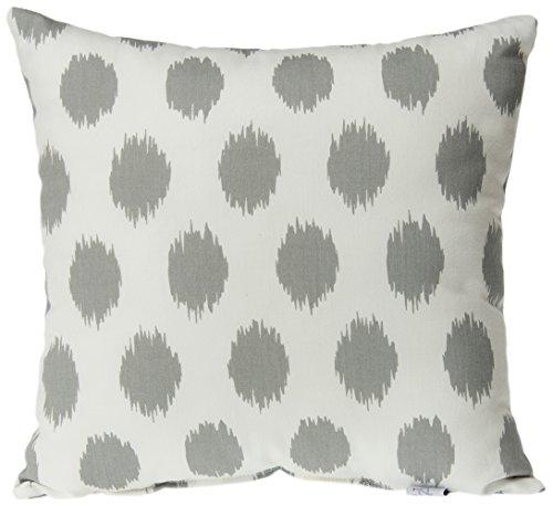 (Sweet Potato Swizzle Grey Dot Pillow, Grey/White)