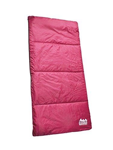 World Famous Sports 50 Degree 56x28 Rectangular Youth Sleeping Bag, Pink