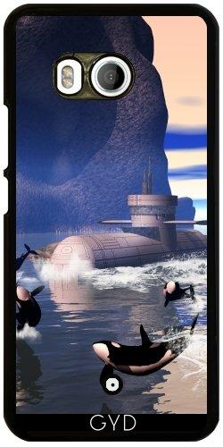Funda para Htc U11 - Submarino Con Orcas by nicky2342