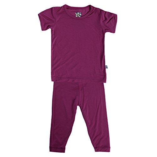 Kickee Pants Basic Pants - KicKee Pants Basic Short Sleeve Pajama Set- Newborn through Kids 10 (5 Years, Orchid)