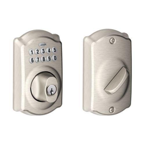 Schlage BE365CAM619 Keypad Deadbolt w/ Accent Passage Lever in Satin Nickel Schlage Lock Company