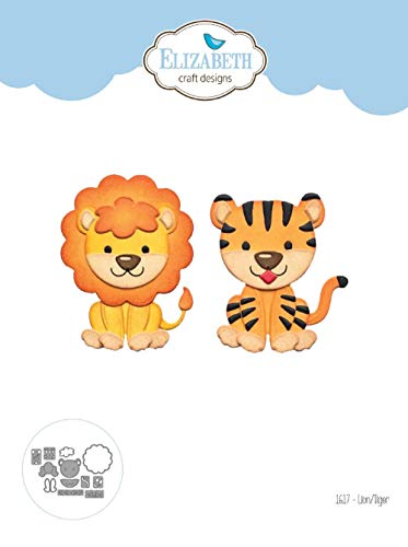 - Elizabeth Craft 1617 Lion/Tiger Craft Die Set