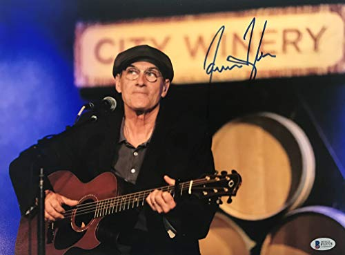 - James Taylor signed photo in concert 11x14 inch autographed beckett coa