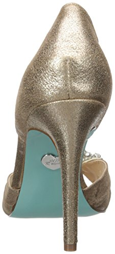 Blu By Betsey Johnson Womens Gown Pump Argento Metallizzato
