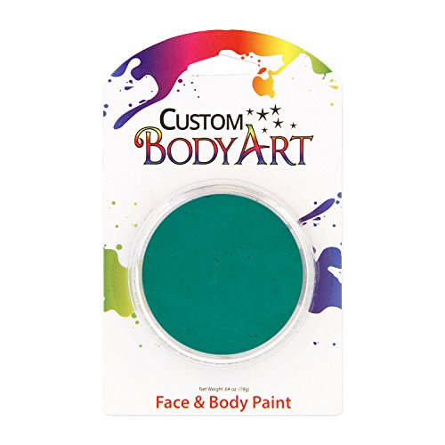 Custom Body Art LARGE 18ml Face Paint Color Single Colors 1-each (Dark Aqua) - Great for Parties, Halloween & Birthdays (Aqua Colors Face Paint compare prices)