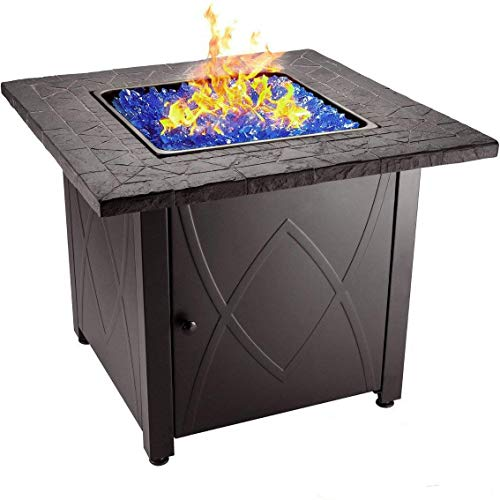 "Endless Summer 30"" Outdoor Propane Gas Fire Pit Table (Blue"