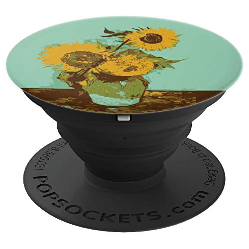 Van Gogh Three Sunflowers Floral Flower Painting Art - PopSockets Grip and Stand for Phones and Tablets