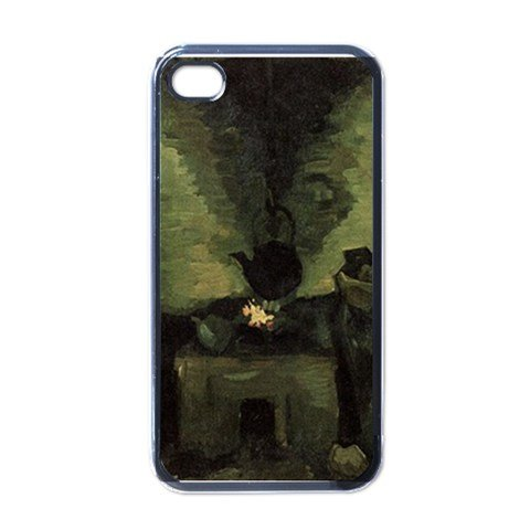 Vincent Fireplace - Peasant Woman By The Fireplace By Vincent Van Gogh Black Iphone 4 - Iphone 4s Case