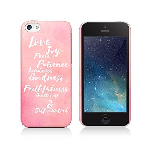 Apple iPhone Xr Case, Love Joy Peace Fruit of Spirit Water Color Bible Unique Print Christian Matte Cover for Apple iPhone Xr