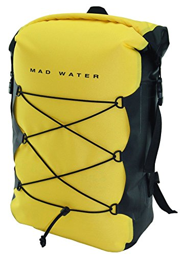 Mad Water Waterproof Classic Roll-Top Backpack, Yellow, 30 L