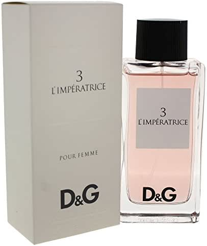 D&G Anthology L'Imperatrice 3 | Eau de Toilette Spray by Dolce & Gabbana | Fragrance for Women | Watermelon, Kiwi, Pink Cyclamen, and Musk Scent | 100 mL / 3.3 oz