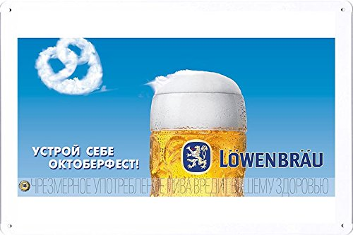 tin-sign-metal-poster-plate-8x12-of-lowenbrau-beer-make-octoberfest-yourself-by-food-beverage-decor-