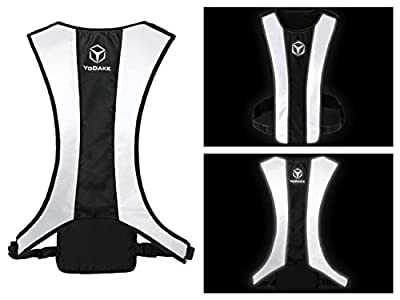 Fashion Reflective Safety Vest Of Unique Design With Pocket For Running And Walking Etc. - Large Area Reflective, Lightweight & High Visibility Night Running Vests