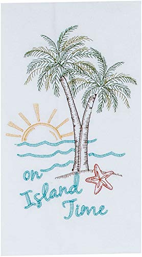 Kay Dee Designs A8555 Palm Tree Embroidered Flour