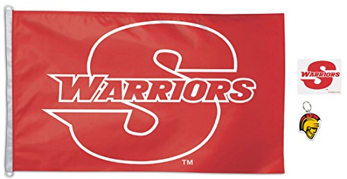 Bundle 3 items: Stan State Warriors 1 Outdoor flag 3x5 feet,
