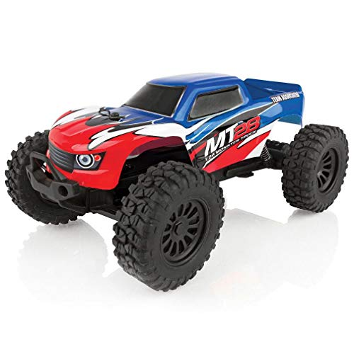 - Team Associated 20155 MT28 Monster Truck Ready to Run, 1/28 Scale 2WD, with Battery, Charger & 2.4Ghz Transmitter