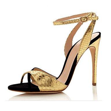 LvYuan Mujer-Tacón Stiletto-Otro-Sandalias-Fiesta y Noche Vestido Informal-Vellón-Oro Gold