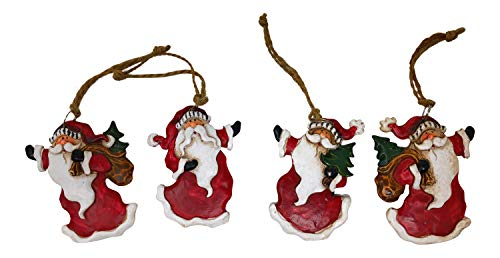 Hanna's Handiworks Santa Claus Christmas Ornaments Vintage Look Hanging Ornaments (Set of ()