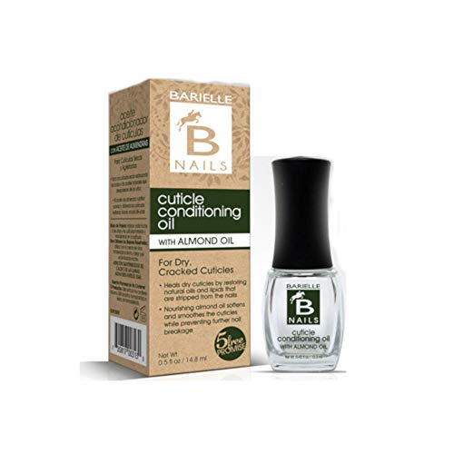 Barielle Cuticle Conditioning Oil w/Almond Oil - for Dry and Cracked Cuticles, Moisturizes and Nourishes Nails and Cuticles, Leaves Cuticles Incredibly Soft and Healthy .45 Ounce