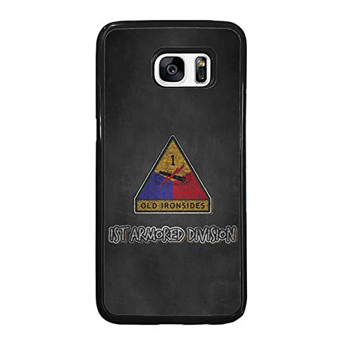 Skinsends United States Army - The Dirty Dorito Case Cover Compatible with Samsung S7, 1st Armored Division | Iron Soldier March Hard Plastic Case Cover Compatible with Samsung Galaxy S7