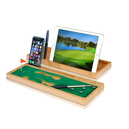 Arete Desktop Mini Golf for Office - Desk Organizer, Phone and Tablet...
