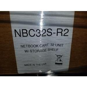 BLACK BOX NBC32S-R2 NETBOOK CART 32 UNIT W/ STORAGE SHELF by Black Box (Image #2)